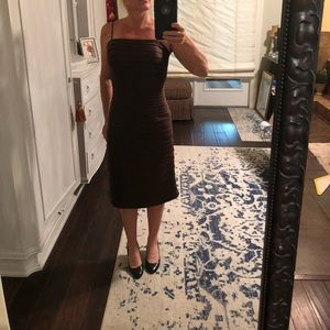 Chocolate Brown dress size 4, excellent condition